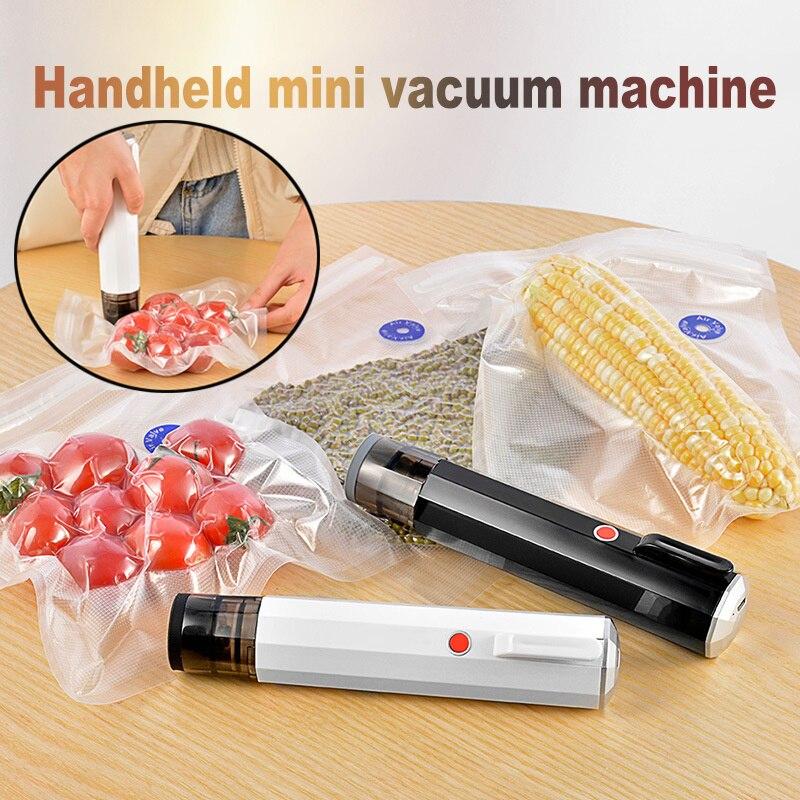 USB يده قابلة للشحن فراغ آلة الغذاء فراغ ضغط حقيبة ذكي مضخة هواء كهربائية الغذاء حقيبة صغيرة فراغ آلة