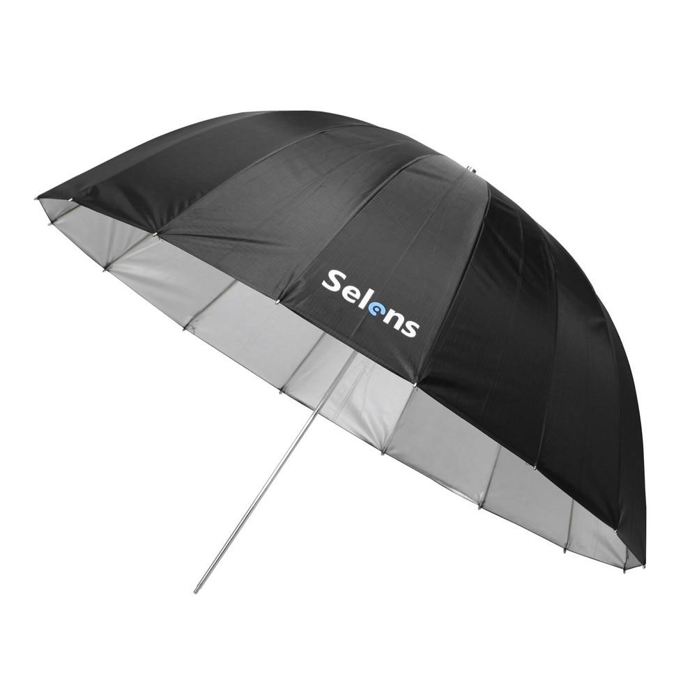 Selens 105 سنتيمتر 130 سنتيمتر 165 سنتيمتر مكافئ عاكس مظلة الفضة اللون ل Speedlite استوديو فلاش الإضاءة غير المباشرة ث/تحمل حقيبة