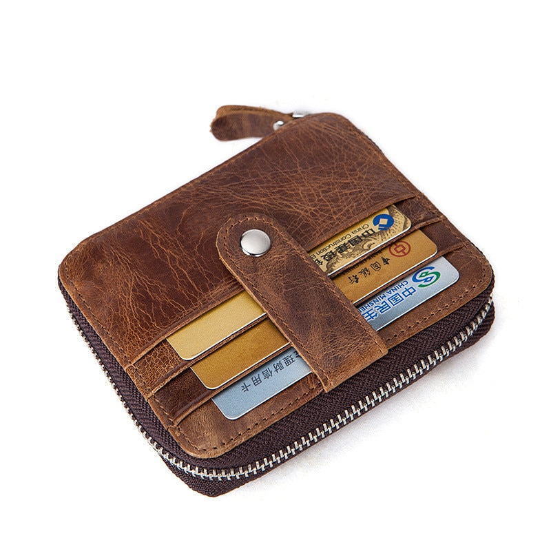 Мужской кошелек на молнии, деловой держатель для карт, портмоне, клатч, держатель для банковской карты, кожа коровы, пикап, посылка, держател...