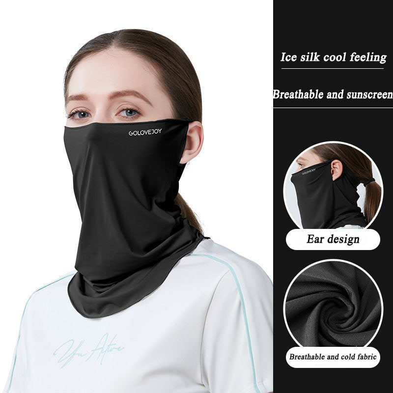 Outdoor magic headscarves for men and women in summer multi-purpose collar sports bib sunscreen ridi