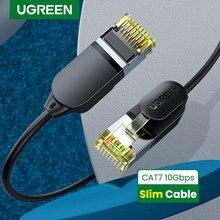 UGREEN Câble Ethernet CAT7 10Gbps Câble Ethernet Mini Mince 0.38mm Diamètre Fil RJ45 Pour Ordinateurs Portables PS 4 Modem Réseau Lan Câble