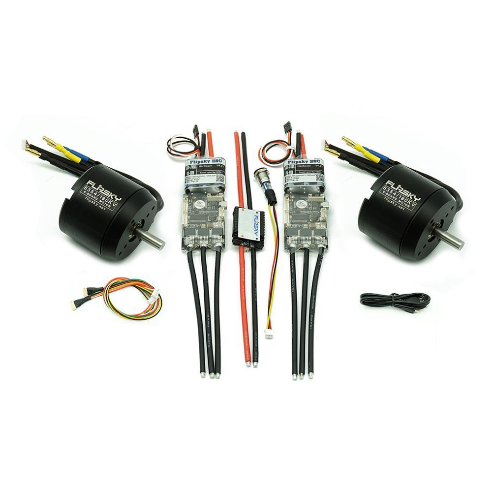 Kit de patineta eléctrica doble DIY 6354 Motors y ESC4.12 280A interruptor antichispa 2450W Motor y Combo ESC