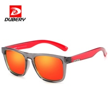DUBERY Square Sunglasses Men Polarized Sun Glasse For Men Women Polarized Mirror Anti Blue light Mal