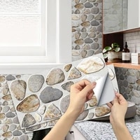 3d cobblestone texture effect home decoration kitchen bathroom room wall self adhesive frosted sticker waterproof wallpaper