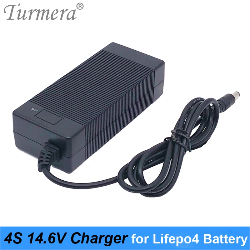 14,6 V 3A LiFePO4 cargador 4Series 12V 3A Lifepo4 cargador de batería 14,4 V cargador inteligente de batería para bicicleta eléctrica Lifepo4