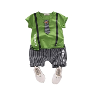 New Summer Children Casual Clothing Baby Boys Girls Striped T Shirt Shorts 2Pcs/sets Kid Infant Clothes Toddler Cotton Tracksuit