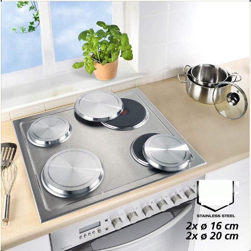 Juego de 4 Uds de placa encimera eléctrica de Gas de acero inoxidable, cubiertas de estufa, protector de cocina, accesorios para hornear, almofada para encimera