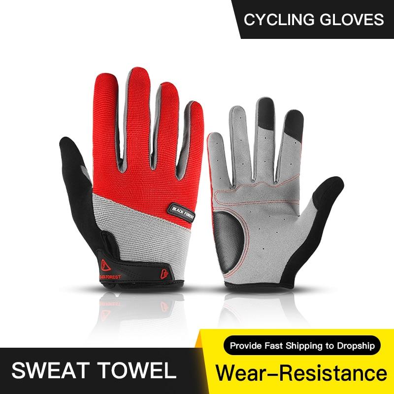 Guantes de Ciclismo de dedo completo para hombre, manoplas para bicicleta de...