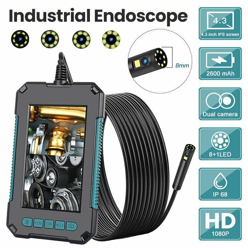 "Get 4.3 "" IPS Endoscope 1080P Dual Lens Inspection Camera LED Endoscope Pipe Camera"