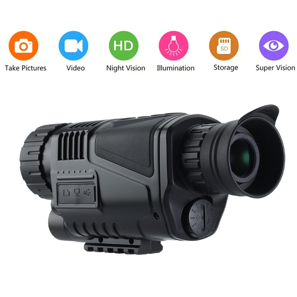 Multi-function NV-300 Night Vision Monocular Hunting Telescope HD Digital Infrared With Take Photos and Videos Playback Function