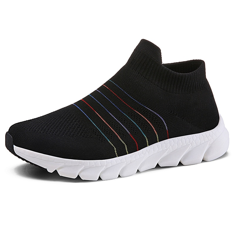 Running Shoes Summer 2021 New Mesh Flying Breathable Women's Shoes Sports Shoes Brand Outdoor Slip-On Women Designer Sneakers