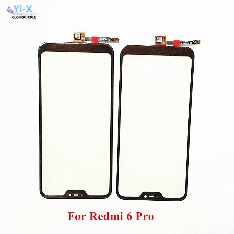 10x For Xiaomi Mi A2 Lite Touch Screen Sensor Glass Panel for Xiaomi Redmi 6 Pro Touchscreen Panel Front Outer Glass