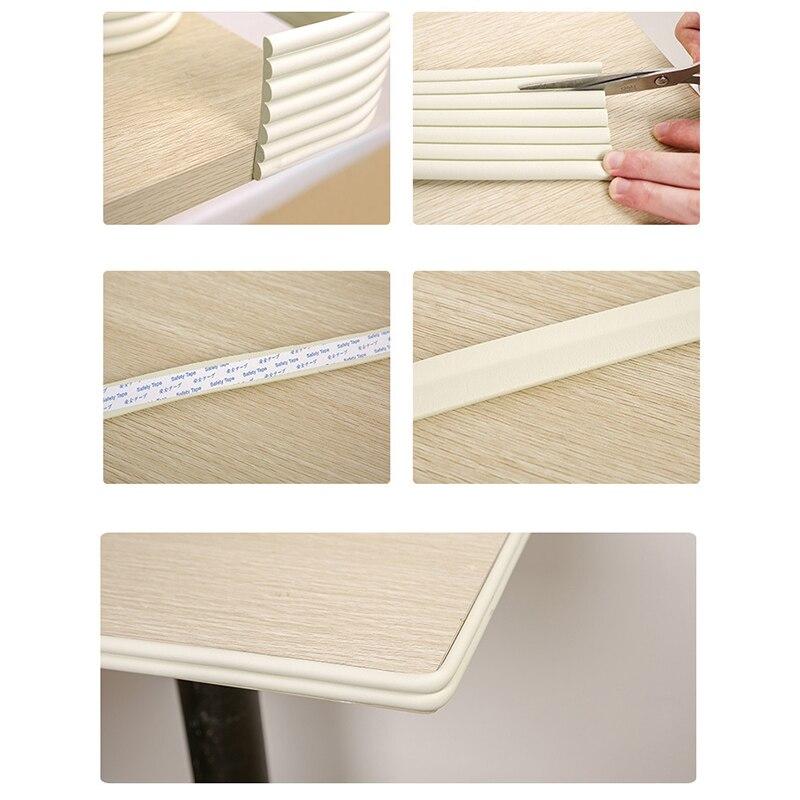 Защитная лента для детского стола, 2 м, защитная полоса для края защита для углов, уголки для мебели защита для детей, из пенопласта