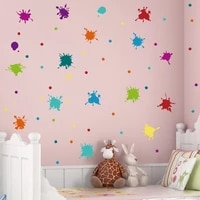 creative paint splash wall sticker for kids room decor vinyl wall art decal mural toy shop decor color wallpapers diy home decor
