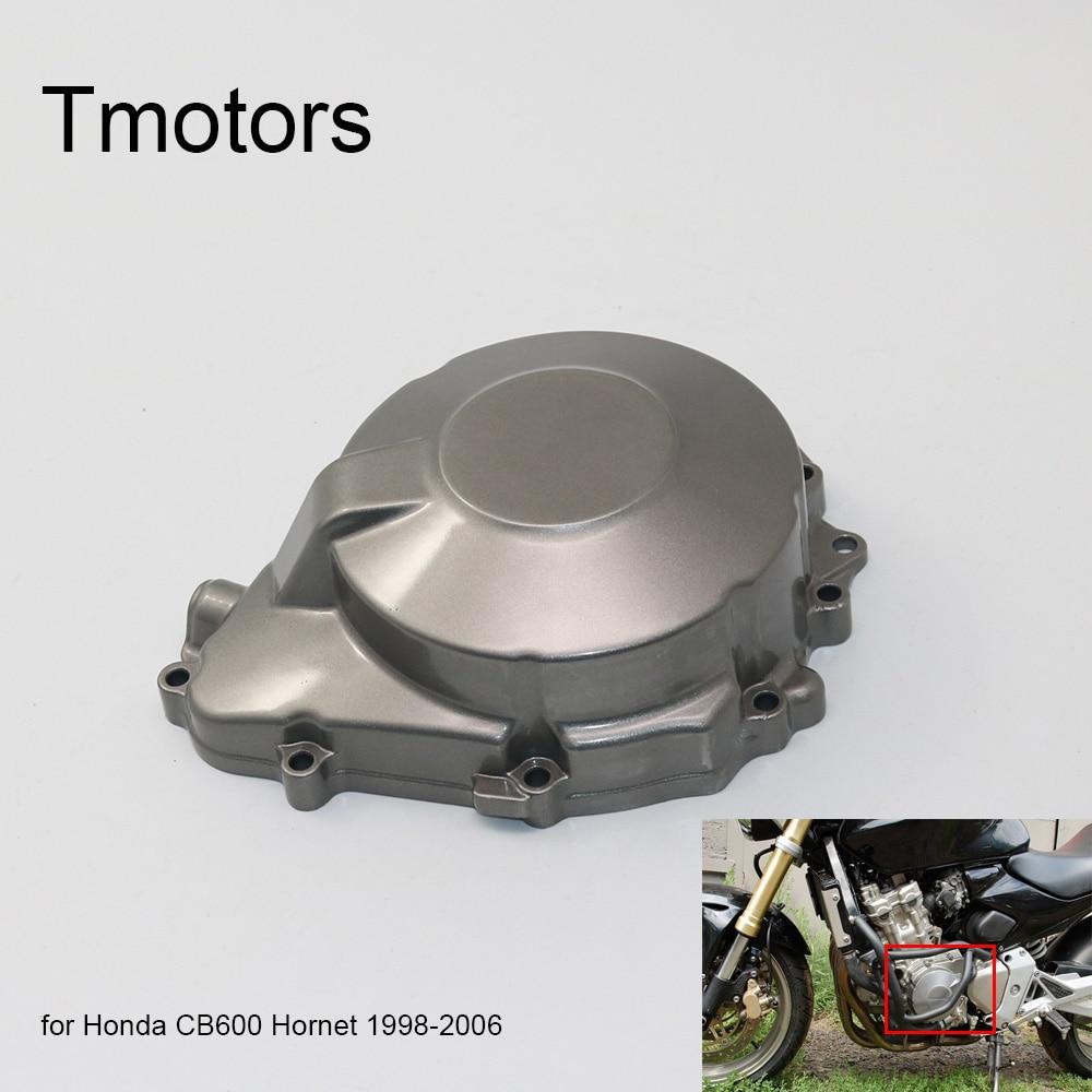 Motocicleta de alumínio do motor estator capa do cárter capa lateral do motor para honda cb600 hornet 600 1998-2006 1999 2005 1999 2000 03