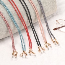 1 PC Mask Holder Strap Anti-lost Eyeglass Chains Face Mask Hanging Lanyard with Clips for Men Women