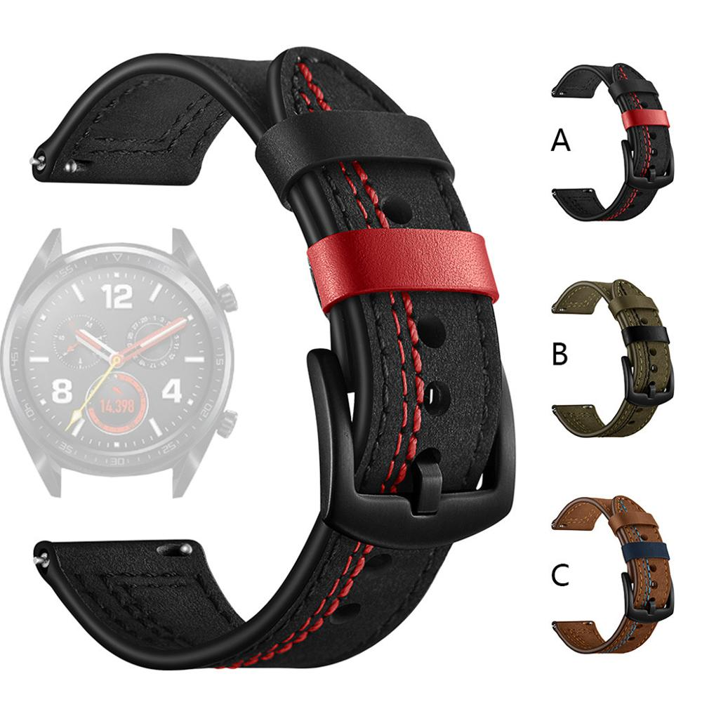 Smart Watch Strap for Samsung Galaxy Watch 46mm 42mm Replacement Leather 22mm Watch Band 20mm Watch Strap for huawei watch gt 2 недорого