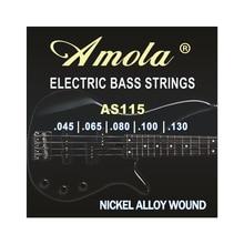 Amola AS115. 045-130 alliage de nickel enroulé 5 cordes de guitare basse électrique pour pièces daccessoires de guitare acoustique