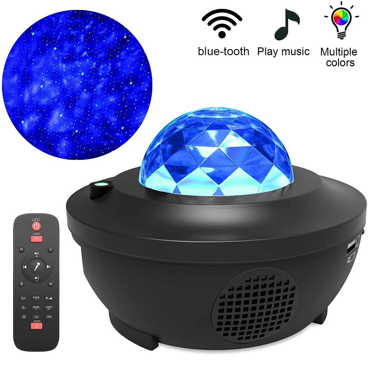 Proyector LED Galaxy blueteeth, altavoz LED, luz nocturna, colorido, cielo estrellado, Control de voz, reproductor de música, lámpara de proyección romántica