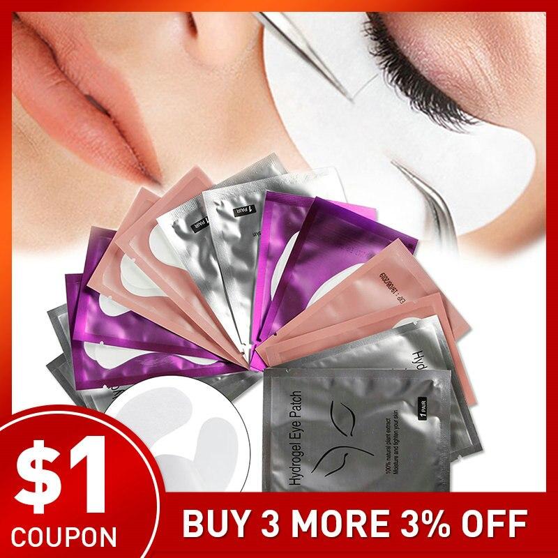 50/100/150 pares almofadas sem fiapos para a extensão da pestana sob os cílios do olho remendos o descanso de papel misturado descartável para os cílios