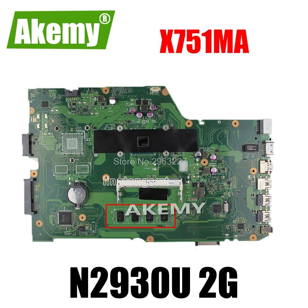 For ASUS k751M K751MA X751MA R752M R752MA Motherboard X751MD rev2.0 Mainboard processor N2930 2g memory Mainboard 100% Tested