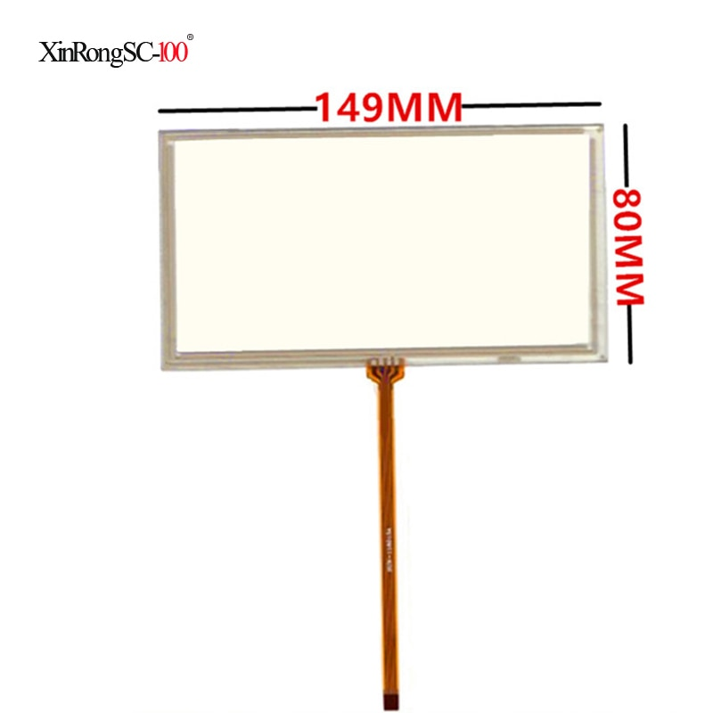 Для JVC KW-AV50 149*80 мм 6 дюймов 149 мм * 80 мм 4 провода универсальная ЖК-панель с сенсорным экраном дигитайзер Автомобильный GPS