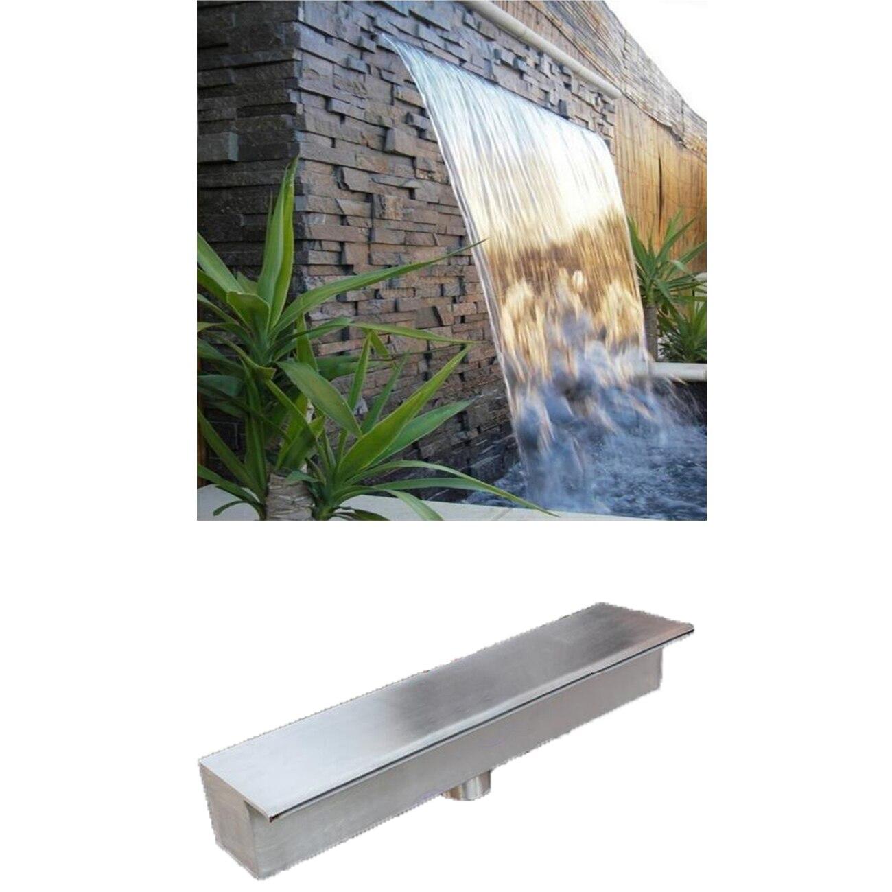 스테인레스 스틸 폭포 물 콘센트 스트림 싱크, 수영장 폭포 분수, 물 커튼 벽 안뜰 물고기 연못 풍경