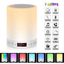 Lumière de nuit colorée avec haut-parleur Bluetooth, lampe de Table de bureau à commande tactile sans fil intelligente sans fil, carte TF, lumière de couleur Luminaria