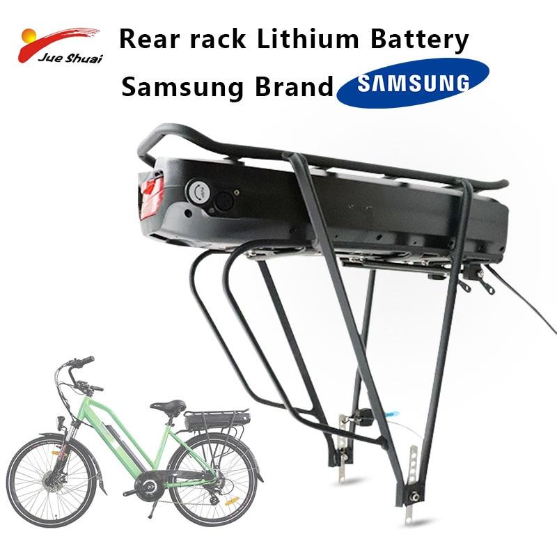 Paquete de batería de Bicicleta eléctrica, 48V, con estante trasero, 18650 litio,...