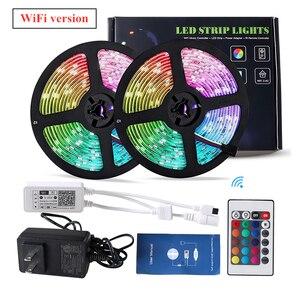 WiFi/Bluetooth Smart LED Strip Light with Controller,Power Voice Control Support Siri (No Apple MFI)/Alexa/Google APP Control