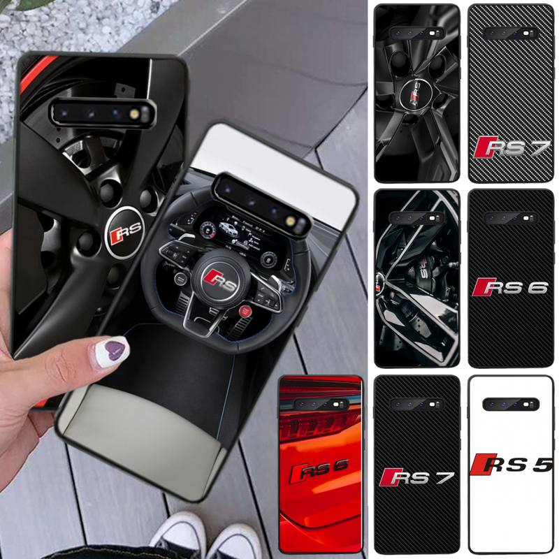 RS Sports Car For AoDi Phone Case For Samsung S8 S9 S10e S20 PLUS Note 20 Ultra Coque Cover