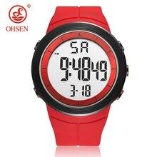 Цифровые мужские военные спортивные часы reloj hombre Красный 50 м дайвер силиконовый браслет мужские наручные часы водонепроницаемые светодиодные Мужские часы Подарки