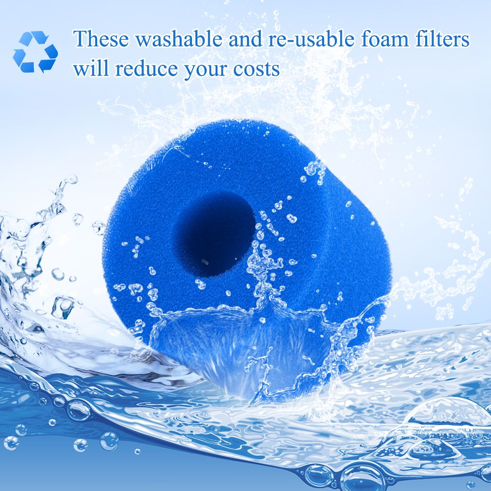 Filtro de esponja lavable para piscina, cojín de espuma reutilizable, Cartucho de espuma para piscina, lavabo de espuma para Intex S1 tipo SPA