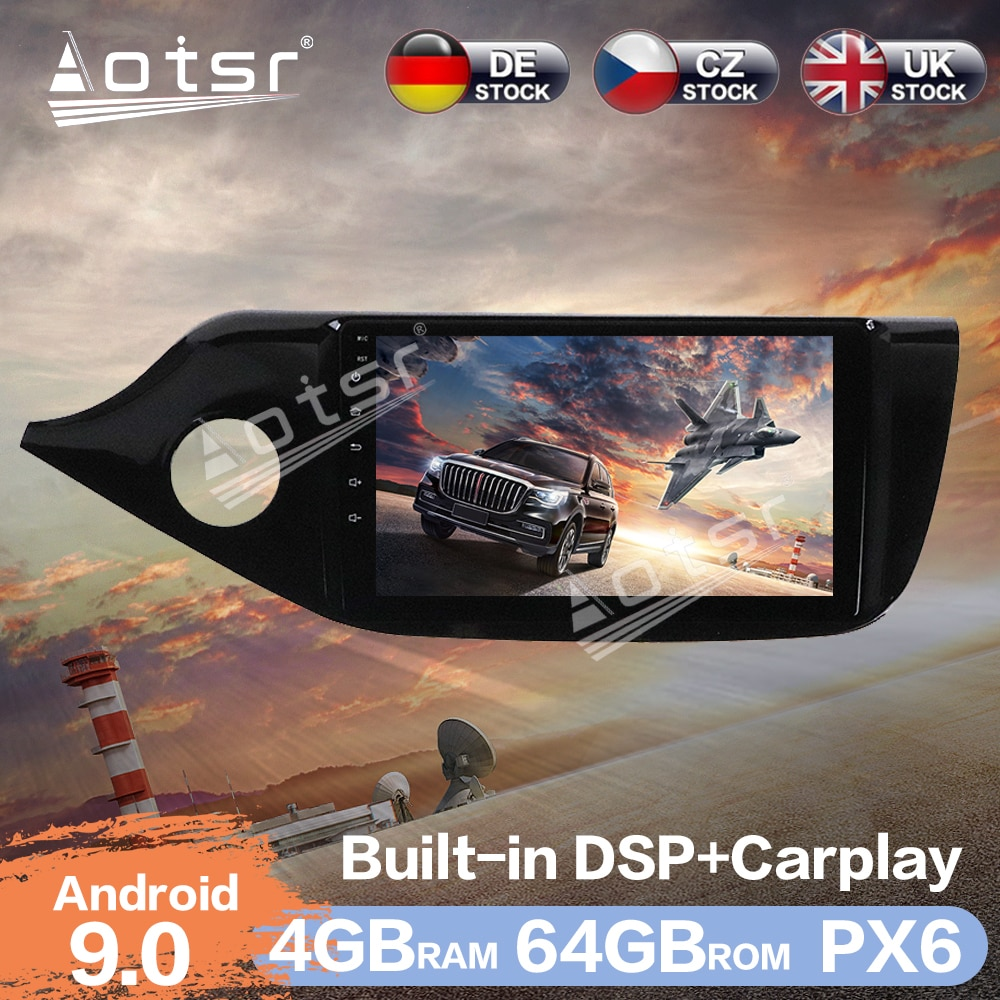 Aotsr Android 9.0 4+64G Car Radio Player GPS Navigation DSP For KIA CEED 2012 - 2016 Car Auto Stereo Video HD Multimedia Player