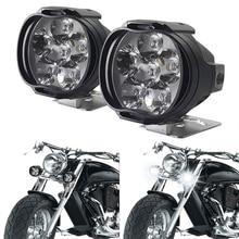 2 قطعة 6 LED دراجة نارية العلوي الأضواء مساعدة عالية السطوع مصباح مركبة كهربية الدراجات البخارية Autocycle تعديل المصابيح