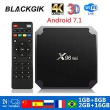 X96 mini Smart Android TV BOX X96mini Android 7.1 TVbox 2GB 16GB Quad Core 2.4G WiFi 4k HD lecteur multimédia pk h96 max plus a95x f3