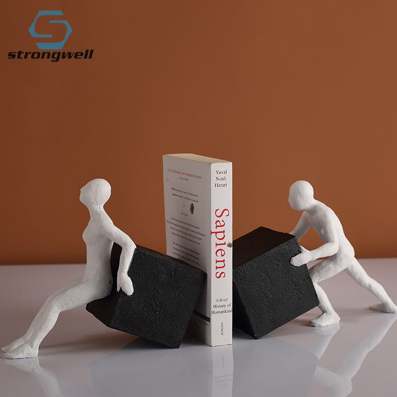 strongwell-office-decoration-bookends-abstract-character-figurines-home-decoration-accessories-resin-ornament-book-stands-crafts