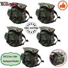 5 Stks/set 1/6 Schaal Bijlage W Textuur Miniatuur Militaire Survival Rugzak Model Jungle Camouflage Fit 12 Inch Actie Speelgoed Figuur