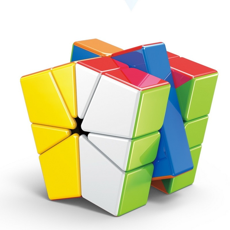 new 3x3 torsion magic cube magnetique coloful twisted cube puzzle toy stickerless puzzles colorful educational toy bandaged cube Magic Cube Magnetique Bandaged Cube Finger game toy Stress Reliever Cube Funny Anti Stress Toys Best Gift Toys for Children