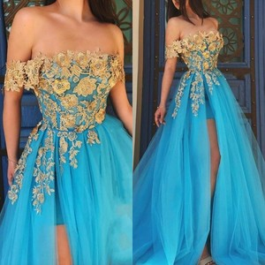 Evening Prom Celebrity Dresses 2020 Woman's Party Night Cocktail Long Tulle Dresses Plus Size Dubai Arabic Formal Dress