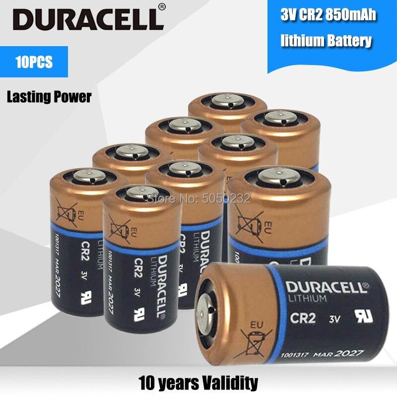 10 baterías DURACELL CR2 3V CR15H270 5046LC CR15270 KCR2 850mah litio Li Ion para cámara seguridad alarma reloj Servo Motor