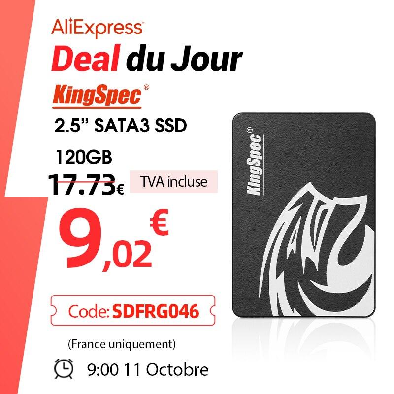 KingSpec SSD hdd 2.5 SATA3 SSD 120gb 240gb 480gb 128GB 256G 1TB 2TB Internal Solid State Hard Drive for Laptop Hard Disk Desktop