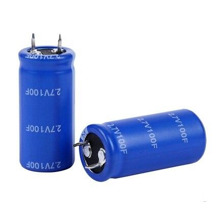 10 шт новое и оригинальное высокое качество супер конденсатор 2.7V100F 2,7 V 100F 2,7 v 100f 22*45 мм