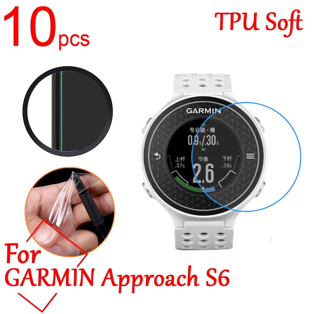 10 Uds. Ultra Clear TPU Soft LCD protector de pantalla completa para Garmin Fehix Chronos Advance S6 Smart Watch GPS película protectora