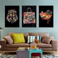 canvas painting frameless poster japanese style soup noodle shopping bag picture printing waterproof ink decoration home