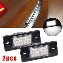 2pcs Car LED License Plate Light For Touareg Tiguan GOLF Variant Wagon MK4 MK5 PASSAT BORA PORSCHE CAYENNE 955/957