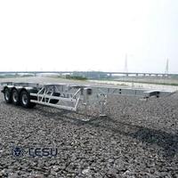 114 lesu 40ft metal trailer 3axles for rc diy tamiya tractor truck model scania benz man car