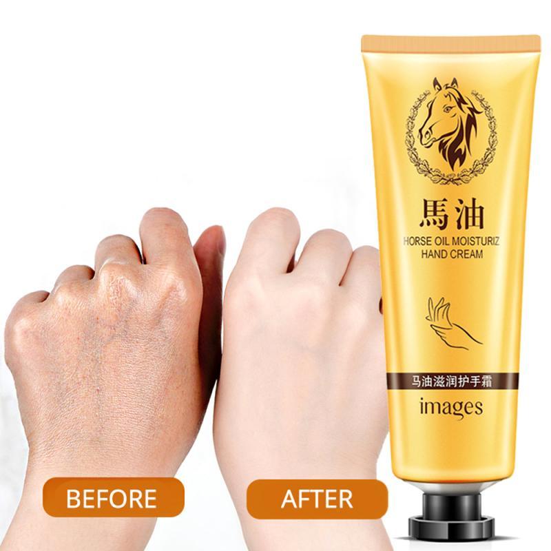 Non-greasy Horse Oil Repair Nutrition Penetration Hand Cream Anti-aging Soft Whitening Moisturizing Fragrance Hand Cream TSLM2 недорого