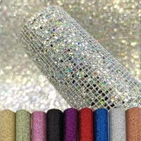 a4 2230cm glitter pu leather holographic iridescent rainbow mirrored leather bag dress fabric craft cloth diy material