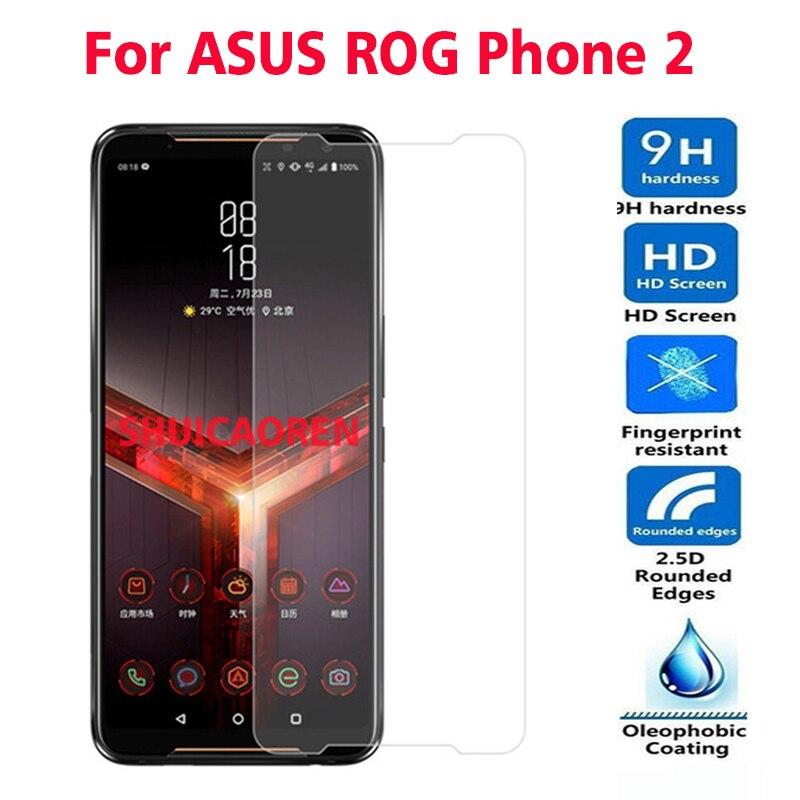 2 шт закаленное стекло для ASUS Rog Phone 2 RogPhone 2 Z01QD Защитная пленка для ASUS ROG Phone II ZS660KL glass